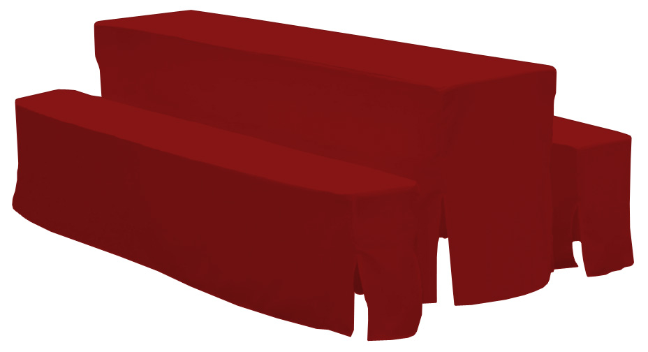 bierzeltgarnitur schlo garten 3teilig 50 cm in rot. Black Bedroom Furniture Sets. Home Design Ideas