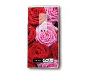 Taschentücher ″Pink and red roses″ 1 Packung