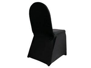 Stuhlhussen Schwarz mit Schleifen